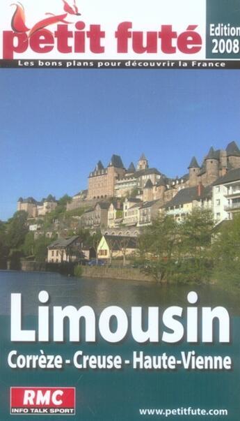 Couverture du livre « Limousin (édition 2007-2008) » de Collectif Petit Fute aux éditions Le Petit Fute