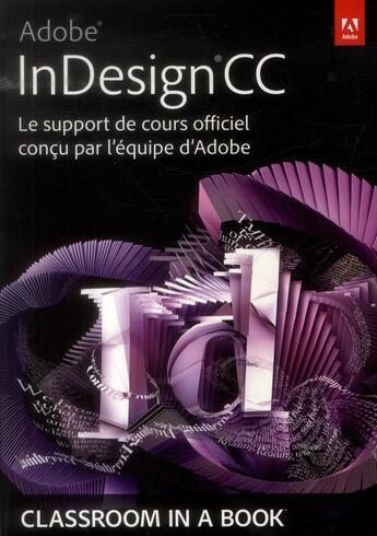 Couverture du livre « Adobe InDesign CC » de Collectif aux éditions Pearson