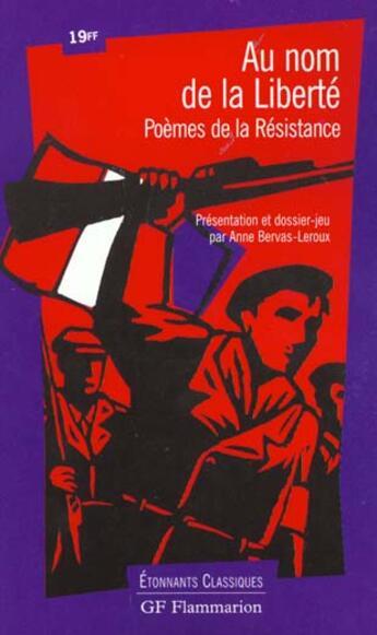 Couverture du livre « Au nom de la liberte » de  aux éditions Flammarion