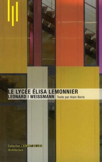 Couverture du livre « Le lycée Elisa Lemonnier » de Michele Leloup et Alain Borie aux éditions Archibooks