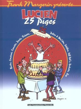 Couverture du livre « Lucien ; 25 Piges » de Frank Margerin aux éditions Humanoides Associes