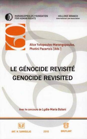 Couverture du livre « Le génocide revisité » de Alice Yotopoulos-Marangopoulos aux éditions Bruylant