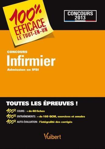 Couverture du livre « Concours infirmier ; admission en IFSI » de Collectif aux éditions Vuibert