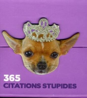 Couverture du livre « 365 citations stupides » de Collectif aux éditions Play Bac