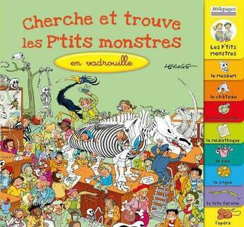 Couverture du livre « Cherche et trouve les P'tits monstres en vadrouille » de Jacques Lerouge aux éditions Millepages