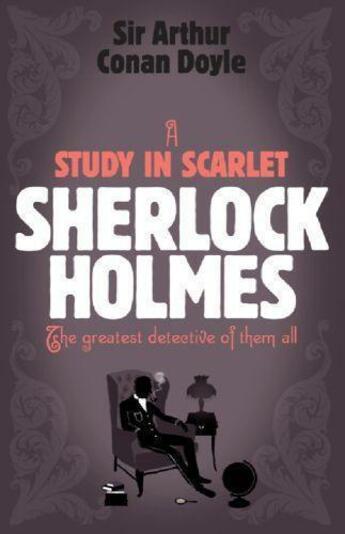 Couverture du livre « A study in scarlet » de Arthur Conan Doyle aux éditions Adult Pbs