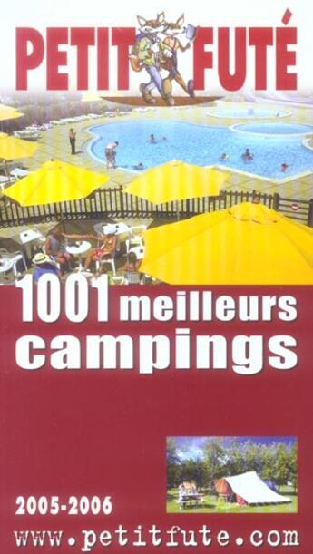 Couverture du livre « 1001 MEILLEURS CAMPINGS (édition 2005) » de Collectif Petit Fute aux éditions Le Petit Fute