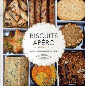 Couverture du livre « Biscuits apéro maison » de Vania Orathay aux éditions Marabout