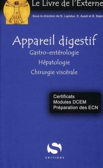 Couverture du livre « Appareil digestif » de Collectif aux éditions Medxls
