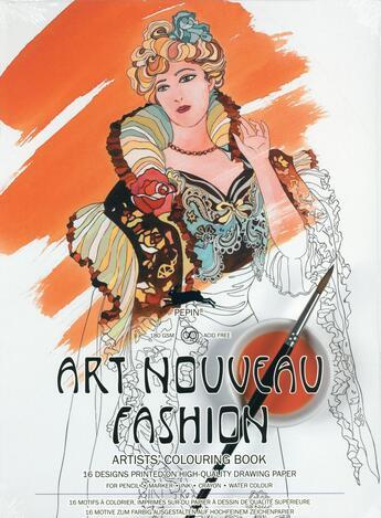 Couverture du livre « Art nouveau fashion ; 16 motifs à colorier, imprimés sur du papier à dessin de qualité supérieure » de Pepin Van Roojen aux éditions Pepin