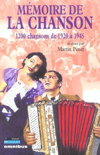 Couverture du livre « Memoire De La Chanson - Tome 2 » de Martin Penet aux éditions Omnibus