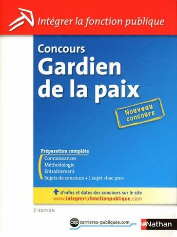 Couverture du livre « Concours gardien de la paix (édition 2010) » de Grasser/Joly aux éditions Nathan