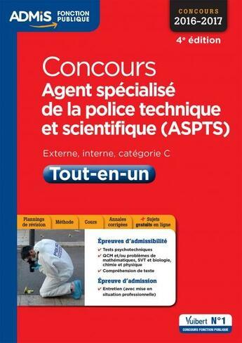 Couverture du livre « Concours agent spécialisé de la police technique et scientifique ; catégorie C (4e édition) » de Collectif aux éditions Vuibert