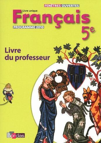 Couverture du livre « 5ième ; livre du professeur 2010 » de Cesbron-Ecevit D. aux éditions Bordas