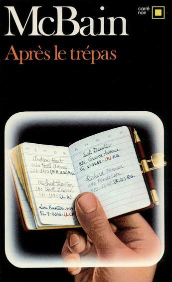 Couverture du livre « Apres Le Trepas » de Ed Mcbain aux éditions Gallimard
