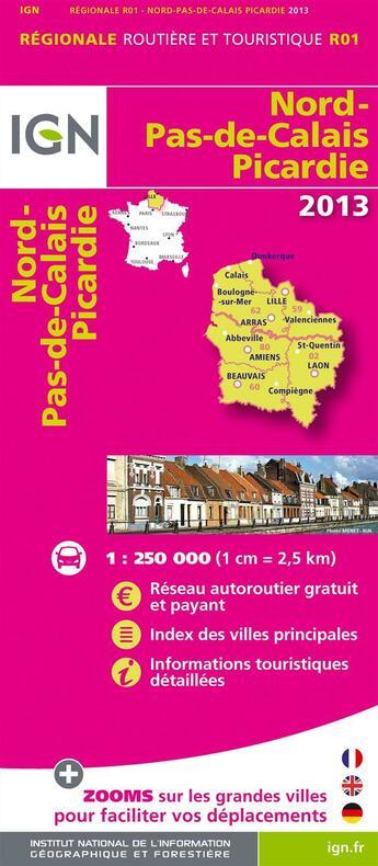 Couverture du livre « **R01 Nord Pas De Calais Picardie 12 » de Collectif Ign aux éditions Ign