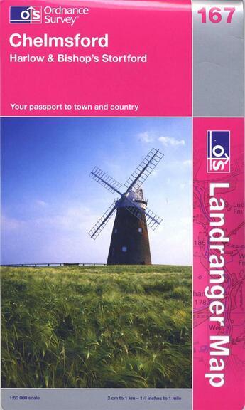 Couverture du livre « Chelmsford Harlow & Bishop » de  aux éditions Ordnance Survey