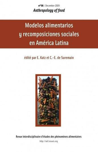 Couverture du livre « Anthropology Of Food T.56 ; Manger Pour Vivre » de Collectif aux éditions Virginie Amilien