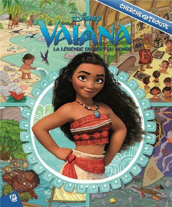 Couverture du livre « Cherche et trouve T.24 ; Vaiana ; la légende du bout du monde » de Collectif aux éditions Pi Kids