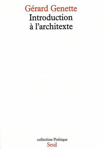Couverture du livre « REVUE POETIQUE » de Gerard Genette aux éditions Seuil