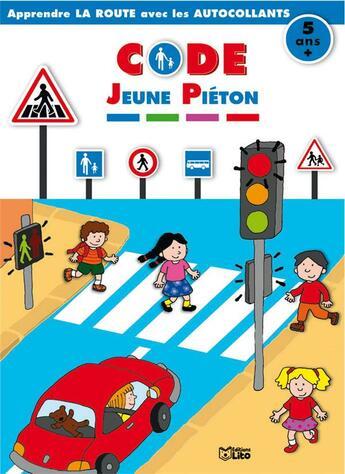Couverture du livre « Autocollants Jeune Pieton » de Daria Manenti aux éditions Lito