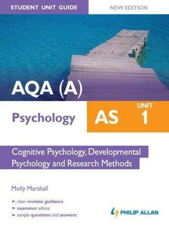 Couverture du livre « AQA (A) AS Psychology Student Unit Guide: Unit 1 Cognitive Psychology » de Marshall Molly aux éditions Hodder Education Digital