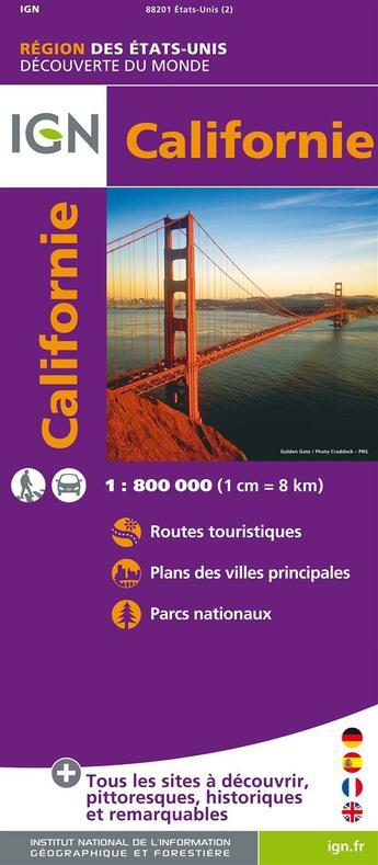 Couverture du livre « Californie ; 85201 » de Collectif Ign aux éditions Ign