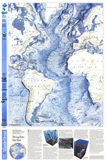 Couverture du livre « **Atlantic Fond Oceans53 Cm X 81 Cm » de Collectif aux éditions National Geographic Us