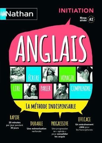 Couverture du livre « Anglais ; initiation (édition 2015) » de Collectif aux éditions Nathan