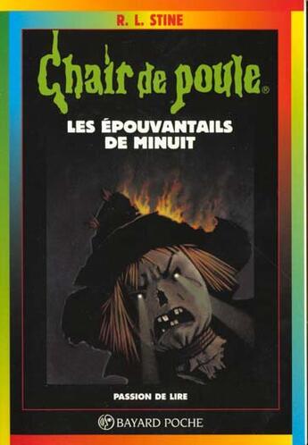 Couverture du livre « Chair de poule t.9 ; épouvantails de minuit » de R. L. Stine aux éditions Bayard Jeunesse