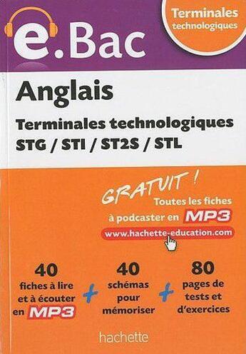 Couverture du livre « Anglais ; terminale STG, STI, ST2S, STL » de Brooks-C.+Gilon-Dill aux éditions Hachette Education