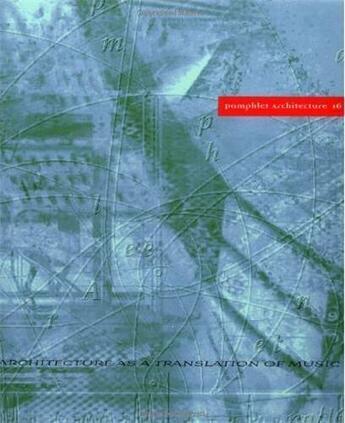 Couverture du livre « Architecture As A Translation /Anglais » de Martin Elizabeth aux éditions Princeton Archi