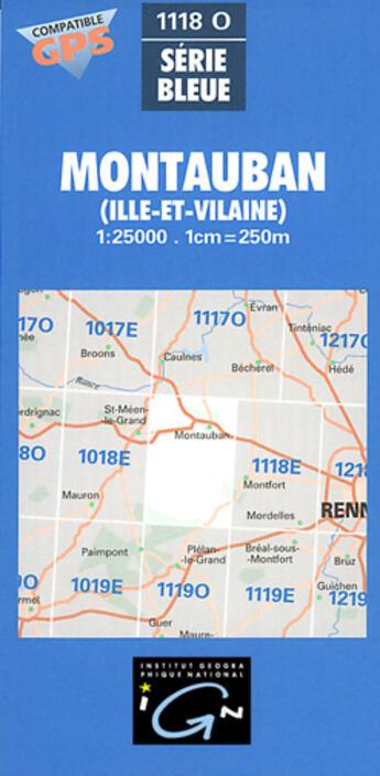 Couverture du livre « Aed Montauban (Ille-Et-Vilaine) » de Collectif Ign aux éditions Ign