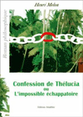 Couverture du livre « Confession de Thélucia ou l'impossible échappatoire » de Henri Melon aux éditions Amalthee
