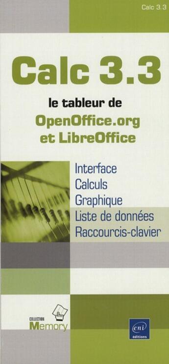 Couverture du livre « Calc 3.3 » de Collectif aux éditions Eni