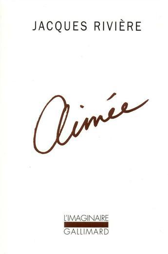 Couverture du livre « Aimee » de Jacques Riviere aux éditions Gallimard