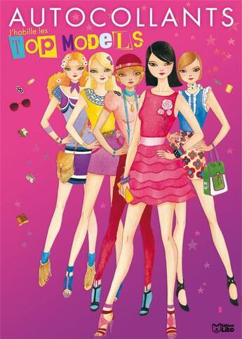 Couverture du livre « Autocollants top models t.1 » de Daneth Khong aux éditions Lito