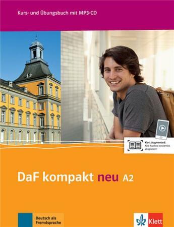 Couverture du livre « Daf Kompakt Neu ; A2 ; Allemand ; Livre Et Cahier D'Exercices » de Collectif aux éditions La Maison Des Langues