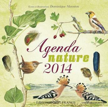 Couverture du livre « Agenda nature 2014 » de Collectif aux éditions Ouest France