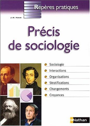 Couverture du livre « Precis de sociologie » de Jean-Michel Morin aux éditions Nathan
