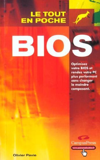 Couverture du livre « Bios » de Olivier Pavie aux éditions Campuspress