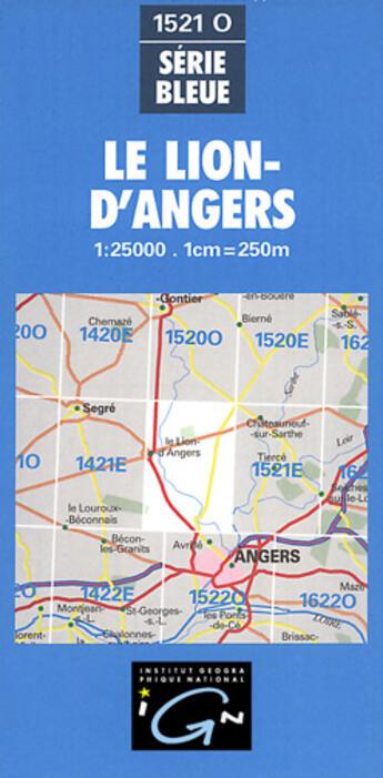 Couverture du livre « Aed Le Lion-D'Angers » de Collectif Ign aux éditions Ign
