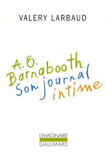Couverture du livre « A. O. Barnabooth » de Valery Larbaud aux éditions Gallimard