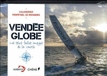 Couverture du livre « Calendrier Vendée globe » de Collectif aux éditions Chene