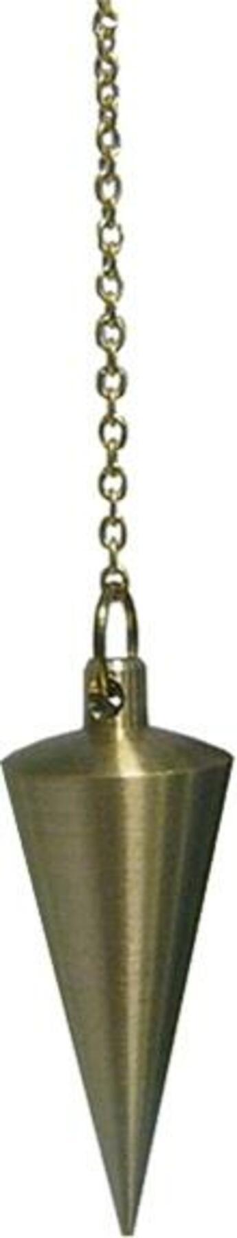 Couverture du livre « Pendule cone en laiton poli dore » de  aux éditions Dg-exodif