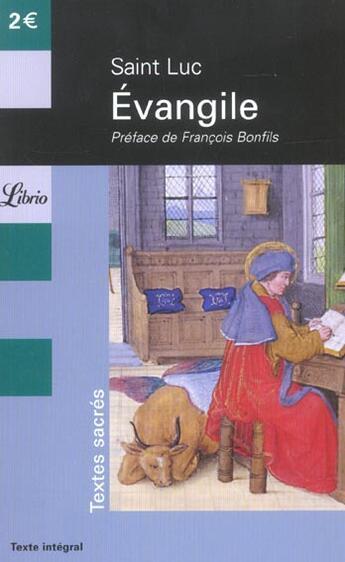 Couverture du livre « Evangile » de Saint-Luc aux éditions J'ai Lu