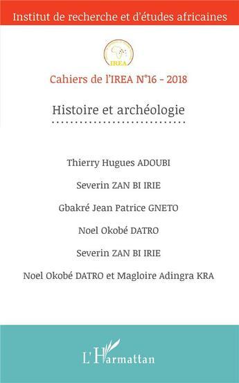 Couverture du livre « Cahiers de l'IREA T.16 » de Cahiers De L'Irea aux éditions L'harmattan