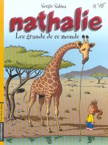 Couverture du livre « Nathalie T.15 ; les grands de ce monde » de Sergio Salma aux éditions Casterman