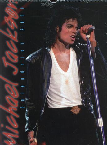 Couverture du livre « Calendrier mural 2016 ; Michael Jackson » de Collectif aux éditions Hugo Image