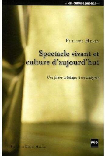 Couverture du livre « Spectacle vivant et culture d'aujourd'hui » de Henry P aux éditions Pu De Grenoble